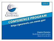 CONFERENCE PROGRAM - Coastal GeoTools - NOAA