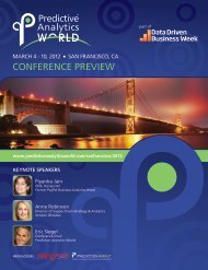 CONFERENCE PREVIEW - Predictive Analytics World