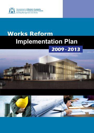 Works Reform Implementation Plan - Department of Finance