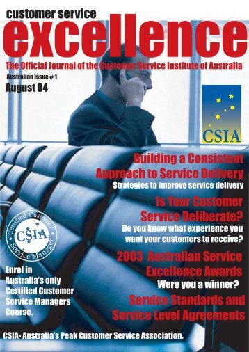Issue 1 - Customer Service Institute of Australia