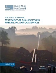statement of qualifications pipeline, oil and gas services - Hatch Mott ...