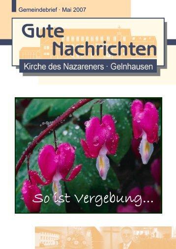 Gute Nachrichten Mai (PDF, 0,96 MB) - Kirche des Nazareners