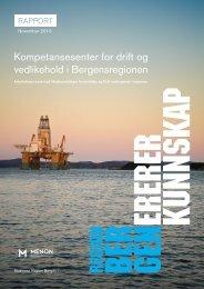 Kompetansesenter for drift og vedlikehold i Bergensregionen