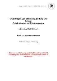 Grundfragen von Erziehung, Bildung und Schule: Entwicklungen im ...