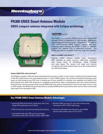 PA300 GNSS Smart Antenna Module - Canal Geomatics