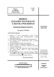 próbny egzamin maturalny z języka polskiego poziom ... - Gazeta.pl
