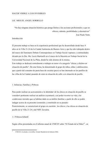 Hacer visible a los Invisibles Miguel Angel Sorbello - Carrera de ...