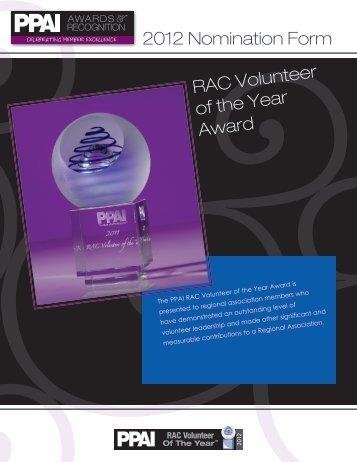 2012 Nomination Form - PPAI