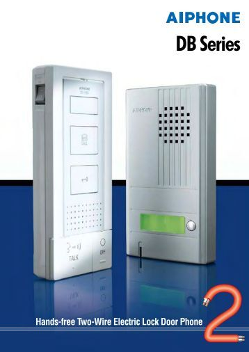 AIPHONE DB Series 2-Wire Audio Door Entry Intercom System