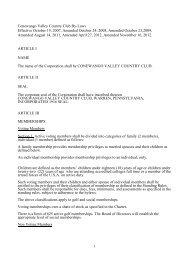 CVCC Bylaws - Conewango Valley Country Club