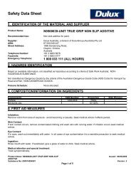 true grip non slip additive - MSDS - DuluxGroup