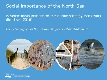 Social importance of the North Sea