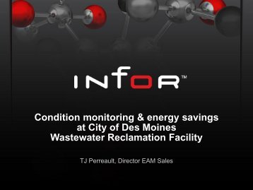 Condition Monitoring and Energy savings at City of Des Moines - Infor
