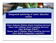 Anderson, Integrated Monitoring of Water Allocation - iwrm