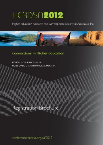Registration Brochure & Form - HERDSA 2013 conference