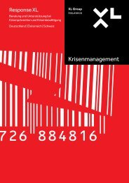 Krisenmanagement - XL Group