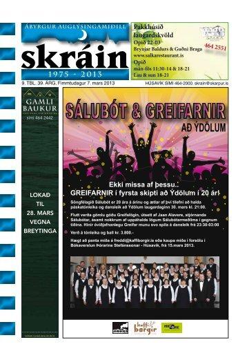 Skráin 9 . tbl. - 7. mars 2013 - Skarpur.is