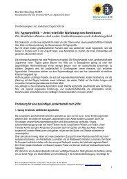 Koordinator für die Grünen/EFA im Agrarausschuss - EU Agrarpolitik