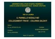 M - Dipartimento di Analisi e Progettazione Strutturale - Università ...