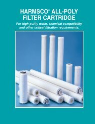 HARMSCO® ALL-POLY FILTER CARTRIDGE
