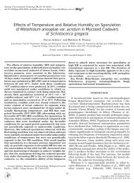 Effects of Temperature and Relative Humidity on ... - The Thomas Lab