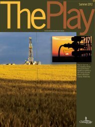The Play, Summer 2012 Issue - Chesapeake Energy