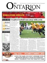 gryphon football runs away with a win - The Ontarion