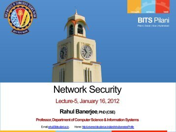 Network Security - BITS Pilani