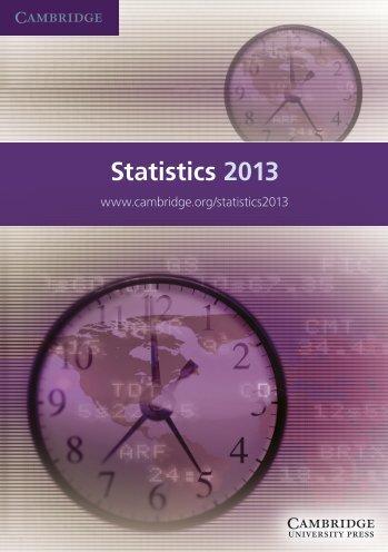 Statistics 2013 - Cambridge University Press India