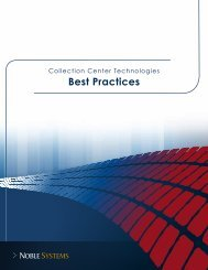 Best Practices: Collection Center Technologies - Noble Systems