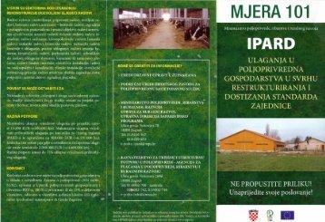 Mjera 101 - Ministarstvo poljoprivrede