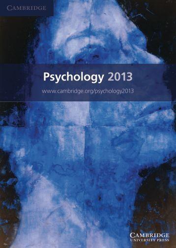 Psychology 2013 - Cambridge University Press India