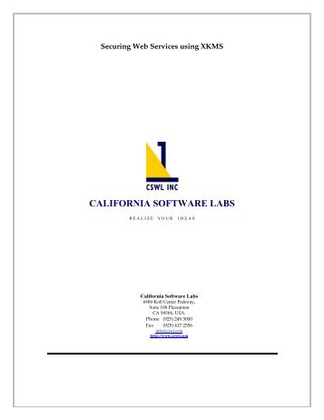 CALIFORNIA SOFTWARE LABS - Calsoft Labs