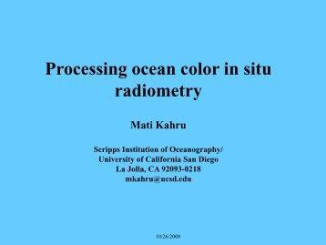 Processing ocean radiometry data - Wimsoft