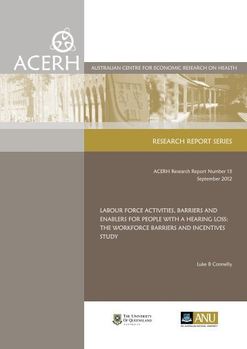 Labour force activities, barriers and enablers for people with a ...