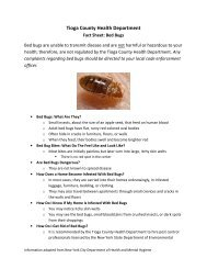 Bed Bugs - Tioga County