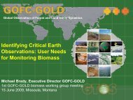 Identifying Critical Earth Observations: User Needs for Monitoring ...