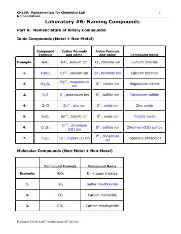 Ch100-Lab06-nomenclature-f07-key