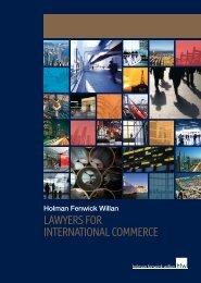 Download the HFW Corporate Brochure