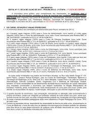 Edital Prouni 2013.2 1ª Lista de Espera 5.8.2013 - Faculdade Christus