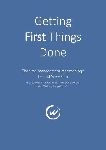 Getting-First-Things-Done