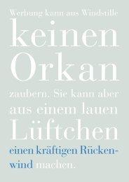 Sechs Thesen zum Start. GWA Jahrbuch, Frankfurt 2003, S. 12