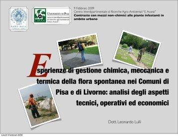Esperienze di gestione chimica, meccanica e termica della flora ...