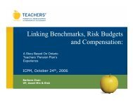 Linking Benchmarks, Risk Budgets and Compensation:
