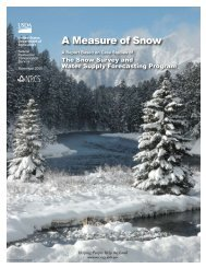 A Measure of Snow - National Water and Climate Center - US ...