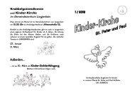 Gottesdienste für Kleinkinder - Pastoraler Raum Hofheim-Kriftel