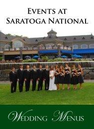 EvENtS At SARAtOGA NAtiONAl - Saratoga National Golf Club