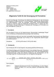 Allgemeine Tarife für die Versorgung mit Fernwärme - Stadtwerke ...