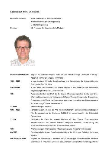 Lebenslauf, Prof. Dr. Straub