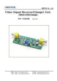 Video Signal Reverse(Change) Unit